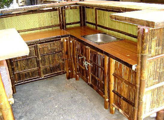 Real bamboo tiki bars for home - Bamboo bar design ideas ...